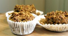 Baked Oats recipes for breakfasts (try) Baked Oatmeal Recipes, Baked Oats, Oats Recipes, Oat Muffins, Protein Snacks, Gluten Free Cooking, Base Foods, Clean Eating Recipes, Yummy Food
