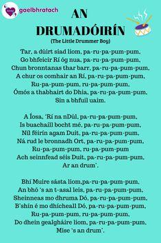 Irish Gaelic Language, The Little Drummer Boy, Irish Landscape, World Languages, Celtic, Landscapes, Guitar, Teaching, Education