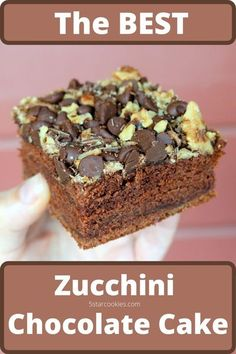 Zucchini Chocolate Best Cake or Your Happy Dance. It has a deep, rich chocolate flavor. It is loaded with zucchini, chocolate chips, walnuts and more. Yes, this is the best chocolate cake for you and your family. #cake #chocolate
