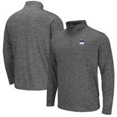 UConn Huskies Colosseum Quarter-Zip Performance Pullover Jacket - Heathered Gray