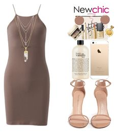 """""""NewChic"""" by lipsy-look ❤ liked on Polyvore featuring Stuart Weitzman, philosophy, ALPHABET BAGS, NARS Cosmetics, Clarins, Too Faced Cosmetics, L'Oréal Paris, Dolce&Gabbana, Boadicea the Victorious and Christian Louboutin"""
