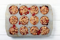 Peach-Raspberry Mini Pies With Press-In Crust