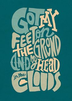 Head In The Clouds By Jay Roeder Creative TypographyCreative PostersTypography FontsCloud