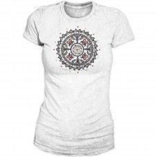 White Swiss Mandala Alprausch T-shirt Mandala, T Shirts For Women, Mens Tops, Fashion, Moda, Fashion Styles, Fasion, Mandalas