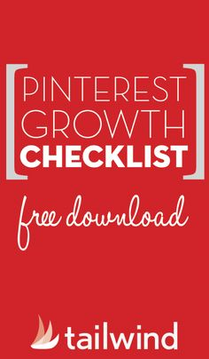 Free printable download - Pinterest Growth Checklist