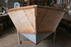 Building a Luzier Outboard Skiff, designed by George Luzier, Sarasota, Florida - Page 2 Wooden Boat Plans, Wooden Boats, Plywood Boat, Boat Projects, Boat Building Plans, Dinghy, Wood Turning, Sarasota Florida, How To Plan