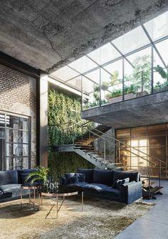 Villa Design, Loft Design, Modern House Design, Home Interior Design, Exterior Design, Interior Architecture, Industrial House, House Goals, Future House