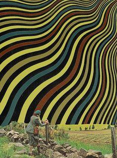 """A Bright Day"" by Matthieu Bourel. Art Print / Mini x Matthieu Bourel, Weird Art, Strange Art, Human Emotions, Dojo, Freelance Illustrator, Surreal Art, Vintage Photographs, Light In The Dark"