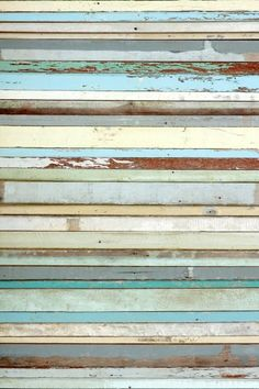 Old Wood blue mural (158004) - Esta Home Wallpapers - A photomural wallcovering with an image of weathered horizontal wood panelling in a range of predominantly blue shades.