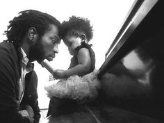 Father and daughter. Love it. Cute!