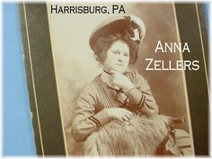 1902 Cabinet Card Photo Vintage Stunning Lady in Fancy Hat & Fur Norristown PA Anna Zellers  - FREE SHIPPING in USA