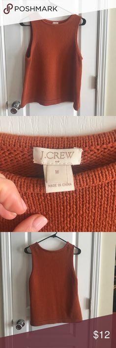 J. Crew Sweater Tank-top EUC - worn once. Women's sweater tank top in a beautiful rust color! J. Crew Sweaters