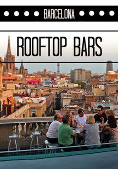 The Best Rooftop Bars In Barcelona. Also Hotel Condes opposite La Pedera… Barcelona Rooftop Bar, Barcelona Travel, Barcelona Bars, Barcelona Catalonia, Barcelona Vacation, Barcelona 2016, Madrid, European Vacation, European Travel