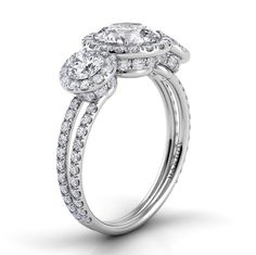 Danhov Classico Double Shank Engagement Ring Style#:ZE116
