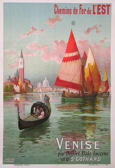 CHEMIN DE FER DE L'EST-VENISE-St GOTHARD  (1900)