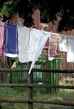 I always love to smell clean clothes off the clothes line and there's nothing better than sliding into a clean bed where the sheets have hung out all day!