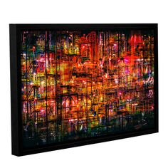 Brushstone Industrial VI Gallery Wrapped Floater-Framed Canvas