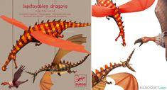 Décorations à suspendre Impitoyables Dragons Little Big Room by Djeco - Chambre Arthur