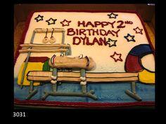 Gymnastics themed cake.