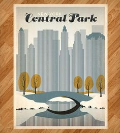 Snowy Central Park Print by Anderson Design Group on Scoutmob Shoppe