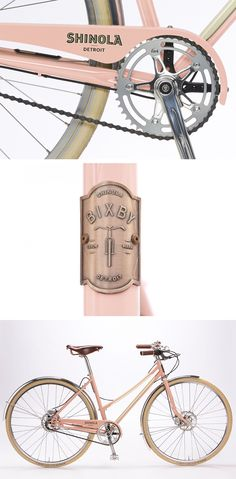 Beach cruiser bike  in salmon | Shinola Bixby