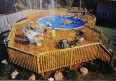Turn an above ground swimming pool into a flush one. Looks so much better.