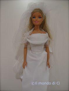 abiti da sposa fai da te per Barbie.