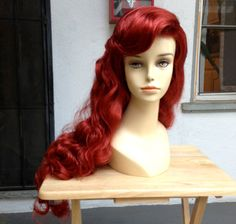 The Little Mermaid Ariel Adult Costume Wig Kit  by littlepennylane, $100.00