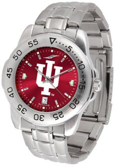 Indiana Hoosiers Sport Steel Band Ano-Chrome Men's Watch