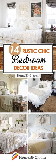 14 Fabulous Rustic Chic Bedroom Design and Decor Ideas to Make Your Space Special Shabby Chic Rustique, Rustikalen Shabby Chic, Shabby Chic Bedrooms, Bedroom Vintage, Shabby Chic Furniture, Country Bedrooms, Home Decor Bedroom, Bedroom Furniture, Bedroom Ideas