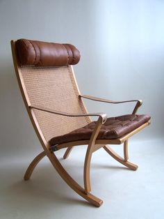 Rare Sigurd Ressel folding chair Vatne Mobler Norway image 2