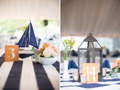 If these table decorations don't scream Bayside Bride, I don't know what does!