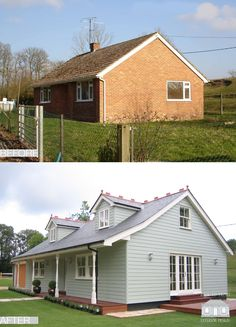 Exterior remodelling of a bungalow