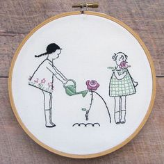 Garden Girls PDF Embroidery Pattern - Hand Embroidery
