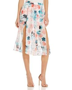 Lovers and Friends Right Now Floral Midi Skirt | Bloomingdale's