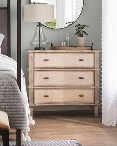 Yes, yes, yes to the Cavana Dresser! We're loving the natural finish & functionality of this charming Link in bio to shop! Diy Furniture Making, Furniture Update, Furniture Projects, Furniture Decor, Refinished Furniture, Painted Furniture, Three Drawer Dresser, Dresser As Nightstand, Nightstands
