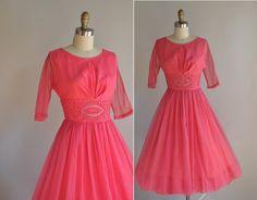 1950s dress / vintage 1950s 50s bubble gum by simplicityisbliss