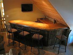 Custom Made Rustic Bar