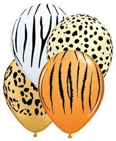 Safari Animal Print Balloons