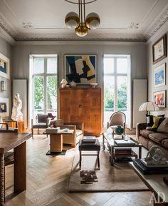 Квартира в Лондоне, 55 м² цветовая гамма, построенная на разных оттенках серого из палитры Farrow & Ball