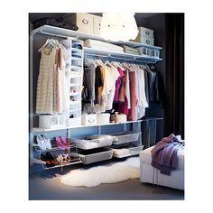 ALGOT Veggskinne/stang/skostativ IKEA Delene i ALGOT-serien kan kombineres på mange ulike måter og er derfor enkle å tilpasse etter behov og...