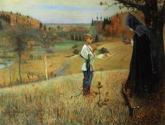 Mikhail Nesterov, The Vision to the Boy Bartholomew, 1889-1890. The State Tretyakov Gallery, Moscow, Russia