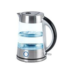 Nesco Gwk-57, 1.7L Glass Water Kettle (170 BRL) ❤ liked on Polyvore featuring home, kitchen & dining, small appliances, tea kettle, glass tea kettle, electric tea kettle, hot water tea kettle and cordless electric kettle