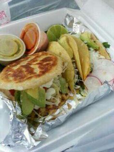Authentic Mexican food ~ gordita and street tacos