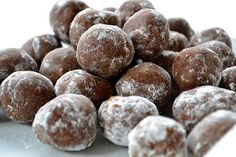 Rum Balls - I will make these a few weeks before the wedding - one of the easiest, semi-Hungarian , no bake cookie recipes EVER.