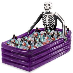Need to keep your beverages cold for your halloween party? Purchase a Skeleton Inflatable cooler for your event!