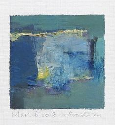 is an Original Abstract Oil Painting by Hiroshi Matsumoto Title: Feb. 2019 Size: cm x cm (app. 4 x Canvas size: cm x cm (app. x Media: Oil on canvas Year: 2019 Painting is matted in off white to fit 8 inch x 10 inch standard frame (frame not included) and Oil Painting Abstract, Texture Art, Street Art, Artist Art, Painting Inspiration, Landscape Paintings, Artwork, Canvas Size, Canvas Frame