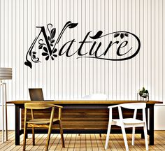 Vinyl Wall Decal Nature Plants Environment Healthy Lifestyle Stickers (088ig)