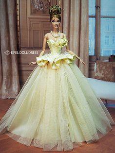 Eifeldolldress EFDD 0223 Fashion royalty evening dress gown barbie silkstone FR