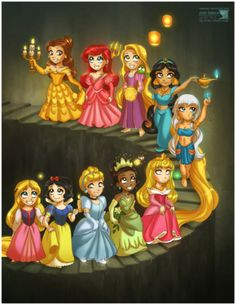 All the pocket princess Disney Pixar, World Disney, Disney And Dreamworks, Disney Animation, Disney Cartoons, Disney Movies, Disney Characters, Chibi Disney, Disney Stuff
